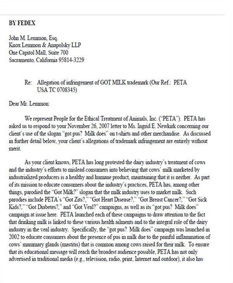 Response Letter To Attorney General free demand letters