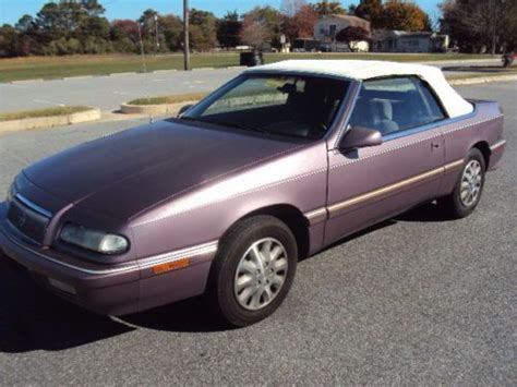 auto air conditioning service 1995 chrysler lebaron regenerative braking sell used 1995 chrysler lebaron lx convertible maryland inspected no reserve in ocean city