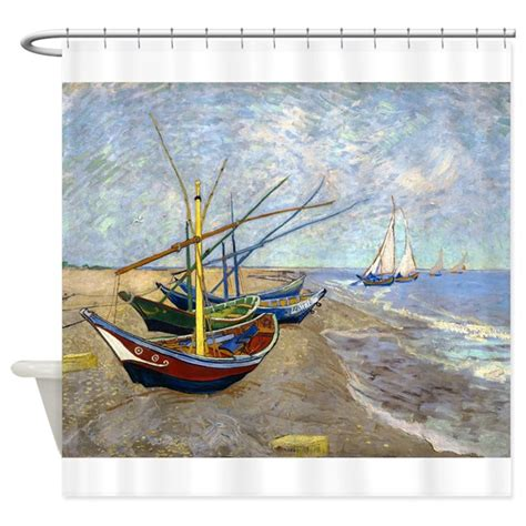 shower curtains for boats van gogh fishing boats shower curtain by designdivagifts2