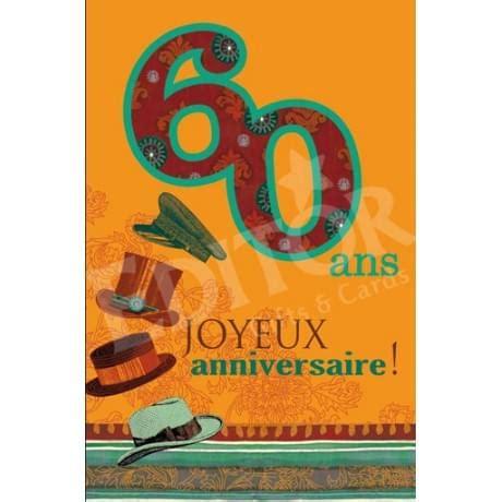 carte joyeux anniversaire 60 ans cadeau maestro