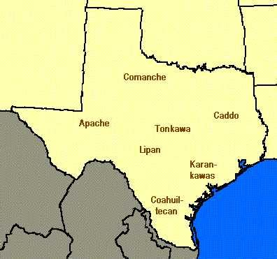 american tribes in texas map texas indian tribes aaa arts
