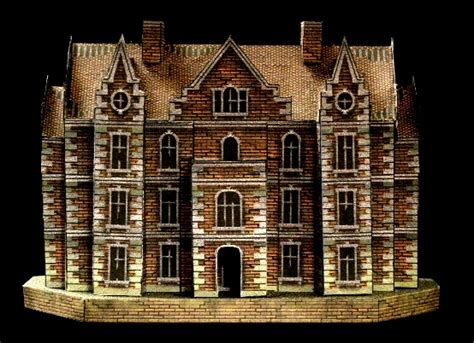 printable haunted house craft starc manor a free haunted house papercraft model