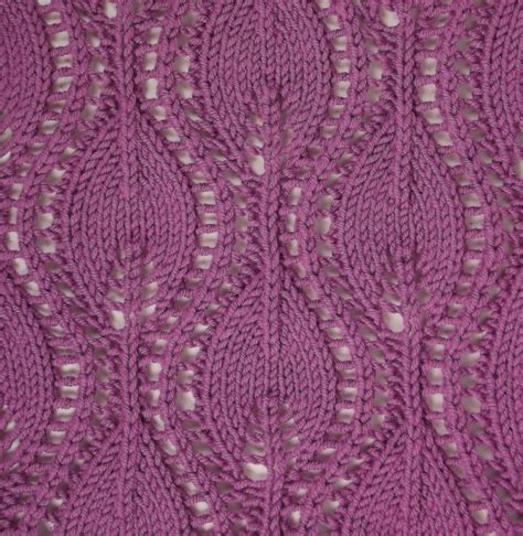 knitting pattern stitch library ogee lace ii differs a lot from the traditional ogee lace