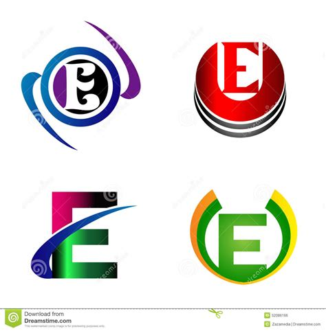 e design letter e logo design template letter e icon stock vector
