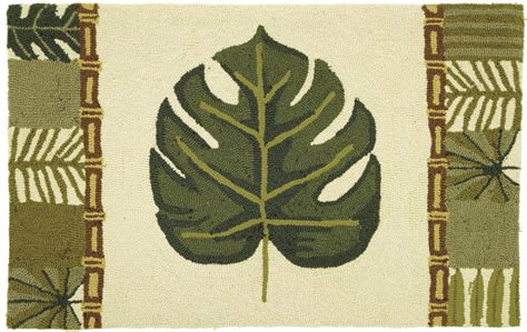 palm leaf rug palm leaf and bamboo accent rug