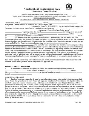 Montgomery County Application Bill Of Sale Form Maryland Rental Application Form