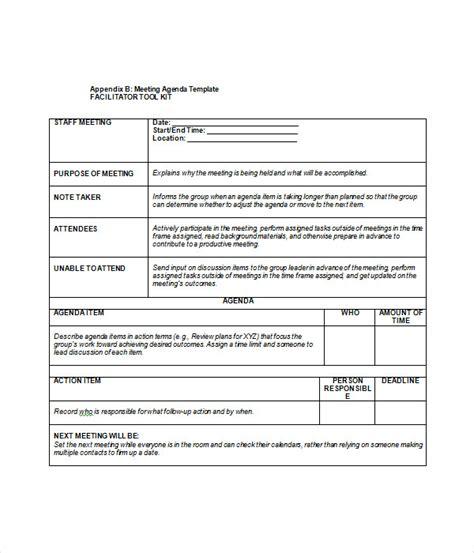 creative meeting agenda template agenda templates 19 word pdf documents
