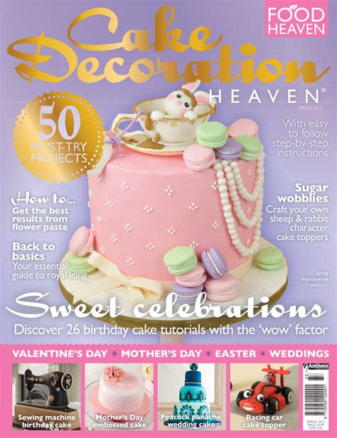 our tea and macarons rabbit cake on the cover of cake