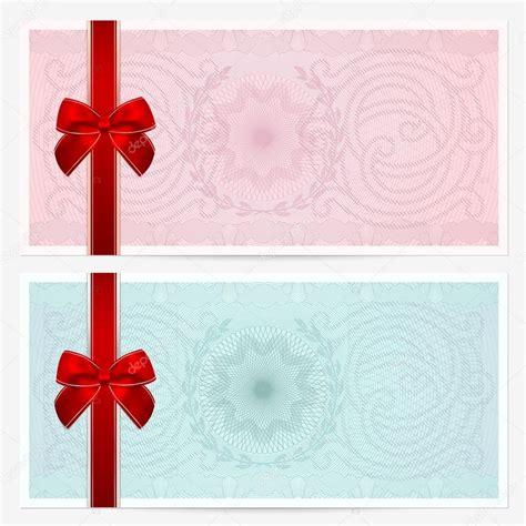 Design Vorlage Gutschein Geschenkgutschein Gutschein Gutschein Vorlage Mit Bunten Guilloche Muster Wasserzeichen Rot