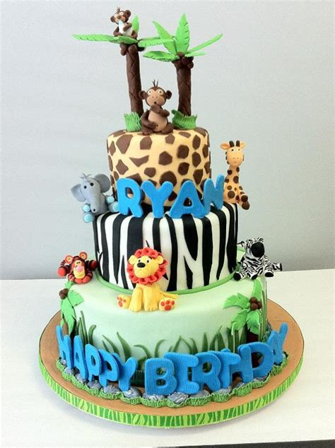 Safari Cakes Baby Shower by You To See Safari Baby Shower Cake On Craftsy