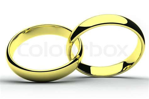 Heiraten Ringe by Isolierte Gold Hochzeit Ringe Stockfoto Colourbox