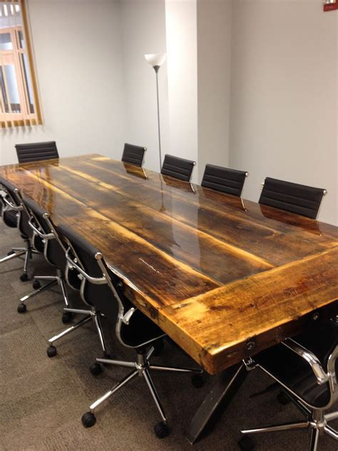 Crafted 10 X 4 Reclaimed Conference Table With Steel