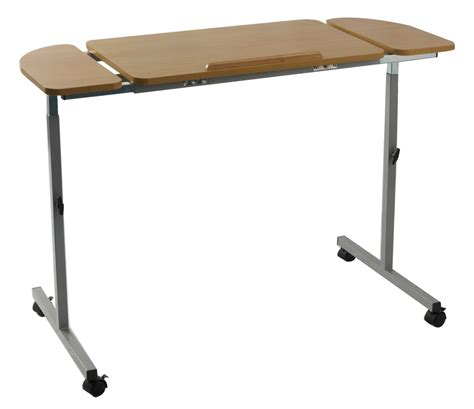 bed tables adjustable tilting over bed and over chair table