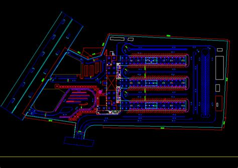 bus terminal dwg detail  autocad designs cad