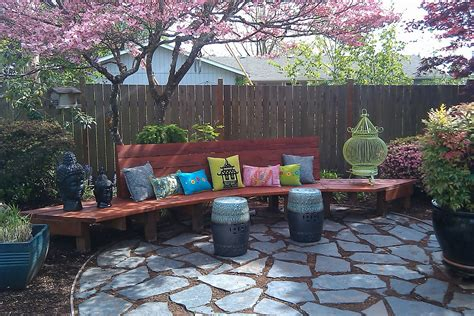 Backyard Upgrade Ideas Consider It Done Construction Fancy Backyard Bench