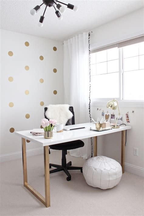 Gold Office by Just Gold And Girly Home Office