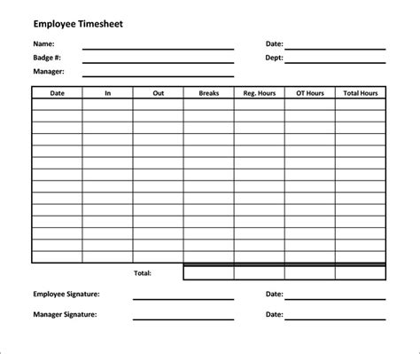 time sheets templates free 55 timesheet templates free sle exle format