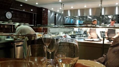 a view of the kitchen from the chef s table picture of