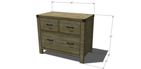 Free Diy Furniture Plans To Build A Pottery Barn Inspired Lateral File Cabinet Plans