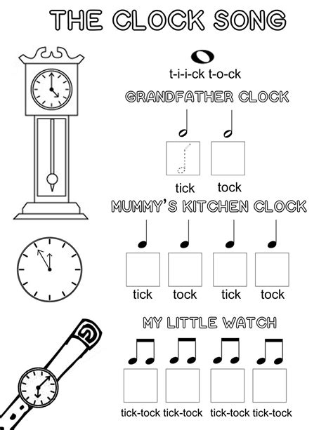 printable music games for kindergarten let s play music free music theory worksheet the clock