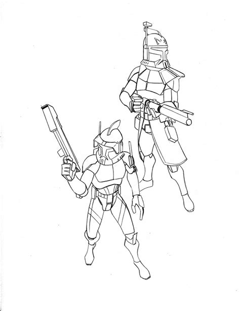coloring pages commander captain rex coloring page coloring home