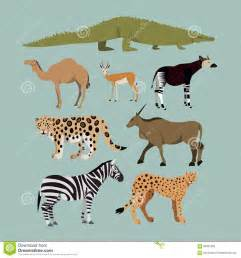 vector set of different african animals animals of the