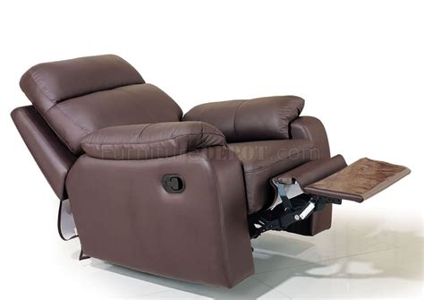 Recliner Seats chocolate brown leather modern living room w recliner seats