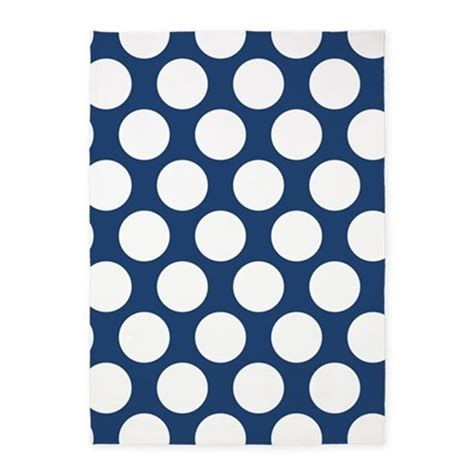Polka Dot Area Rug Navy Blue Polkadot 5 X7 Area Rug By Zandiepantshomedecor