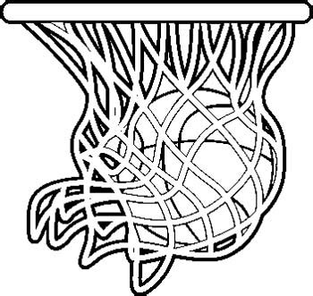 real basketball coloring pages engraving creations clipart basketball clipart best
