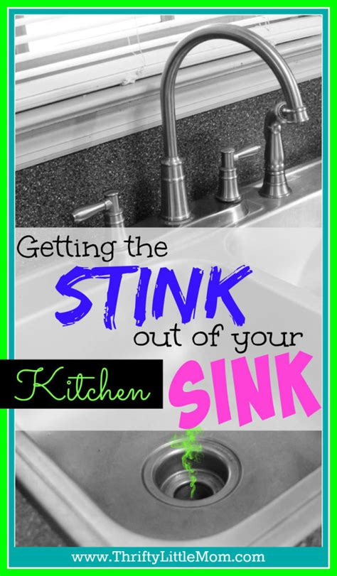 how to get the drain out of a bathtub get the stink out of your kitchen sink 187 thrifty little mom
