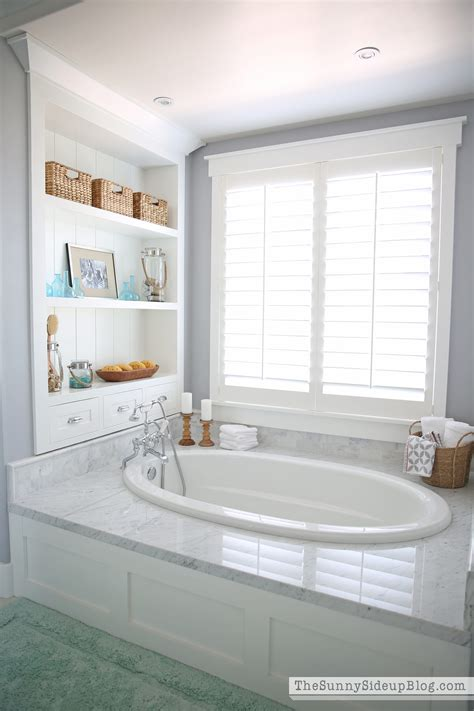 master bathroom bathtubs master bathroom shelves tub the sunny side up blog