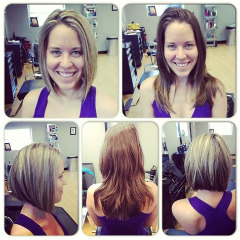 before and after long to short hair medium bob haircut long to short before and after