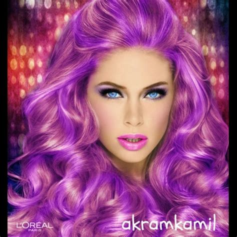 try on hair colours quot swetty purple quot created using taaz virtual makeover try