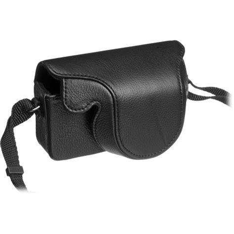 olympus cases olympus leather for xz 1 black 202528 b h photo