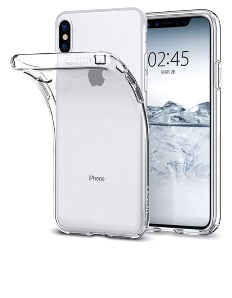 Spigen Liquid Iphone X Clear Original spigen liquid clear for iphone x cases protectors mobile phones accessories