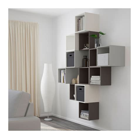 eket ikea eket wall mounted cabinet combination white dark grey