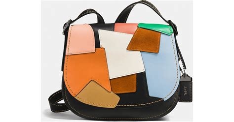 Coach Patchwork Bags - coach saddle bag 23 in patchwork leather in black lyst