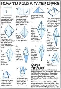 How To Make An Origami Peace Crane - origami crane origami origami
