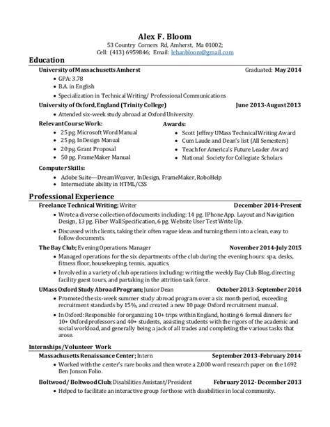 alex bloom resume
