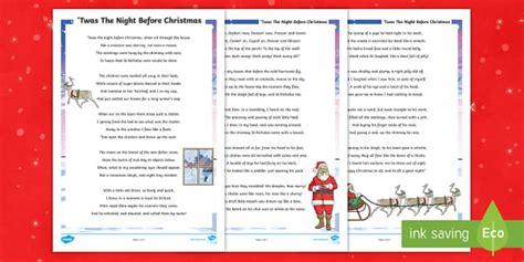 ks twas  night  christmas poem mouse santa st