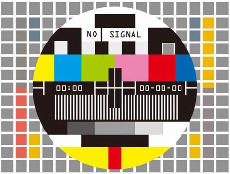 tv test pattern vector television test screen no signal vector illustration free
