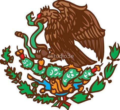 aguila de blasn quot mexico eagle coat of arms escudo mexicano quot stickers by estudio3e redbubble