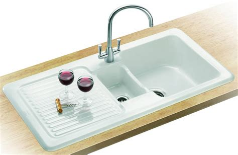 Ceramic Inset Sink by Franke V And B Vbk 651 White Ceramic 1 5 Bowl Kitchen