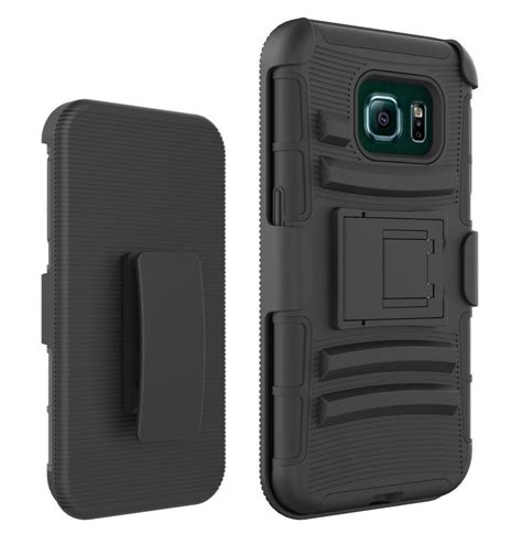 Casing Cover Samsung S6 Edge Stand Holster Belt Clip Armor Future samsung galaxy s6 edge belt clip holster combo cell phone kick stand cover ebay