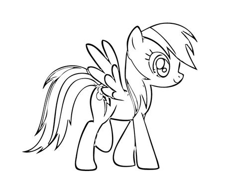 rainbow dash coloring page az coloring pages