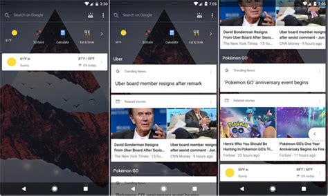 google design reddit a sleek new transparent google feed pane might be on its