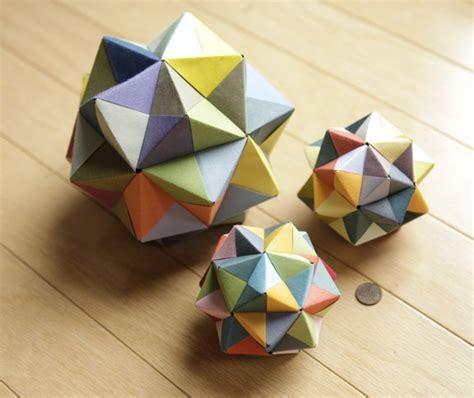 Origami And Geometry - modular origami icosahedron octahedron cube 171 math craft