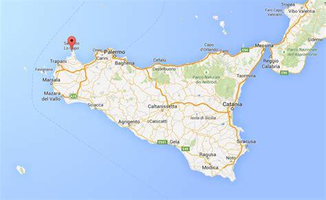 porto san vito lo capo posizione di san vito lo capo sulla mappa della sicilia