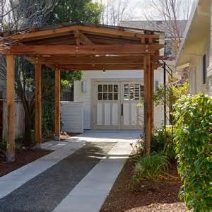 Driveway Carport Front Car Parking Pad Design Ideas Pictures Remodel And