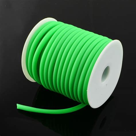 Acrylic Tebal 5 Mm 5mm Silicone Rubber Cord Hollow Diy Jewelry Findings For Jewelry With Plastic Spool
